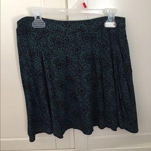 Green Printed Skirt